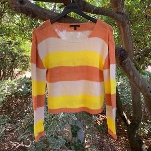 Lucca Couture 70s Inspired Striped Crop Sweater